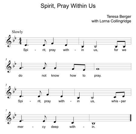 spirit pray within us Bb small