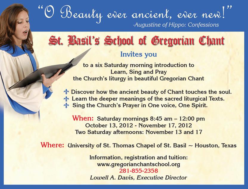 St  Basil's School of Gregorian Chant Fall Short Course - PrayTellBlog