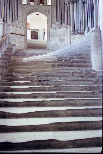 Time-worn steps to the chapter house