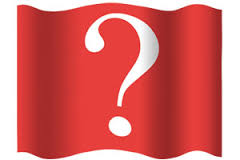 Question mark red cloth