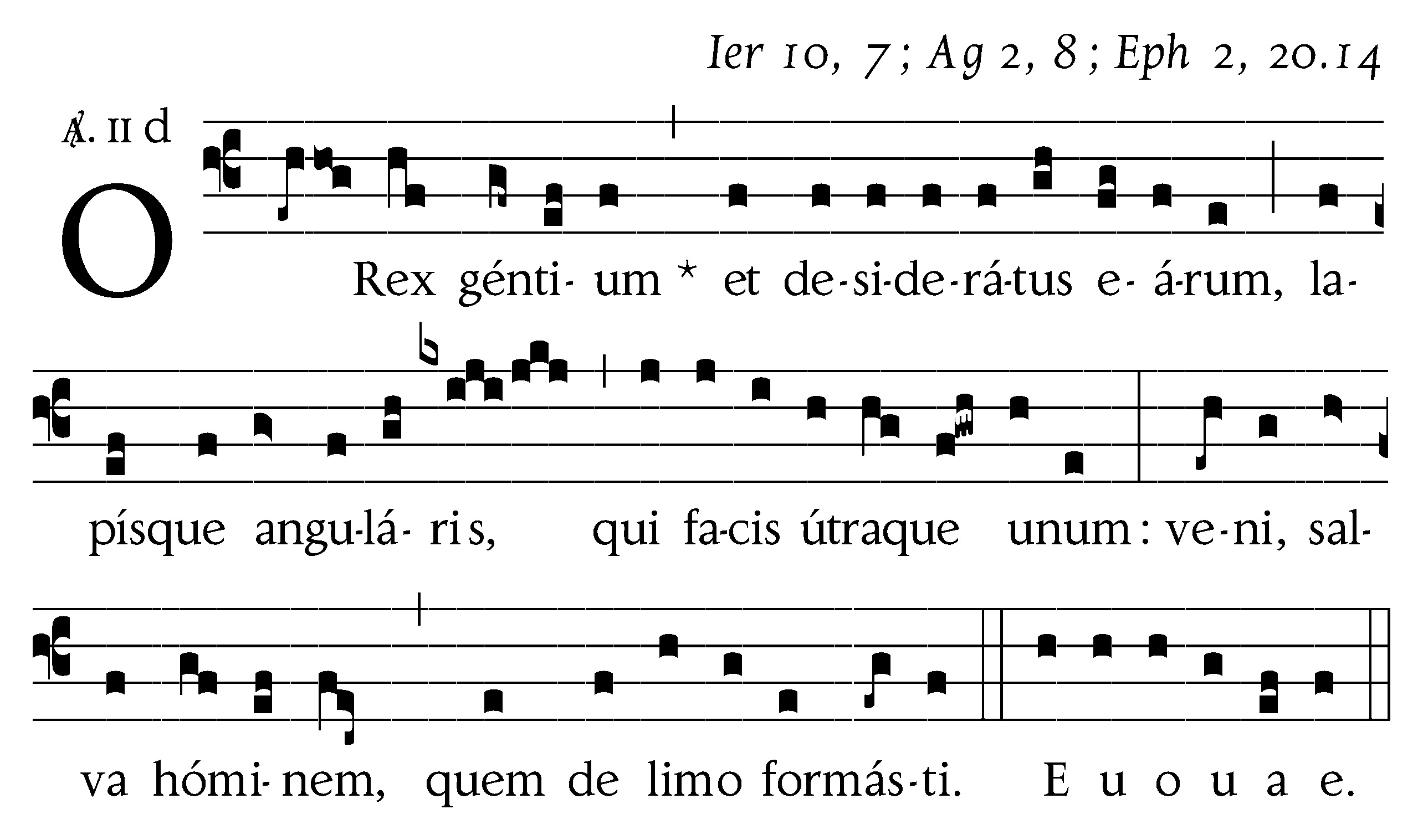 O Rex gentium copy