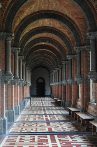 Keizersberg (Mont Cesar) Abbey cloister, Leuven, Belgium.