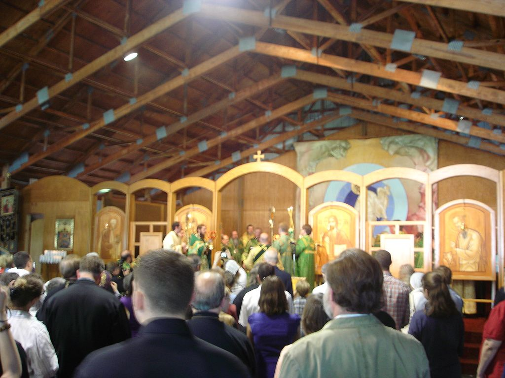 By Violette79 from Brooklyn, NY, USA (Divine Liturgy in the Monastery Pavillion.) [CC BY 2.0 (http://creativecommons.org/licenses/by/2.0)], via Wikimedia Commons