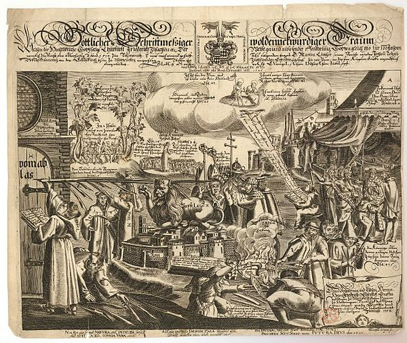 Anonymous Broadsheet (1617) Depicting the Reformation as a Dream of Frederich the Wise