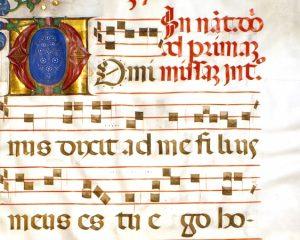 Dominus dixit ad me (manuscript 14th century)