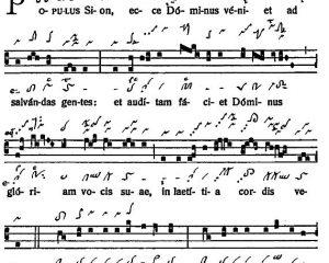 Graduale Novum. Editio magis critica iuxta SC 117. Tomus I: De dominicis et festis, p. 7. (c) ConBrio Verlagsgesellschaft/Libreria Editrice Vaticana 2011.