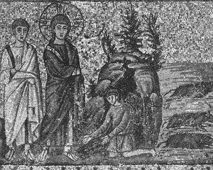 Jesus casting out Legion