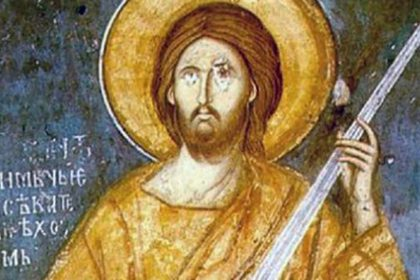 Jesus with a sword